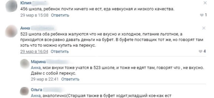 Некачественное питание в школах России привело к жалобам более 2,5 тысяч человек